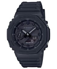 Casio G-Shock Standard Analog Carbon Core Guard Full Black Watch - GA-2100-1A1