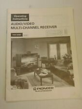 Pioneer Vsx-D407 Audio/Video Multi-Channel Receiver Instructions Manual