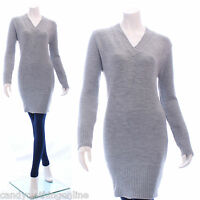 Womens Cowl Neck Knitted Jumper Bodycon Dress Tunic Top Size 8 10 12 14 16 18 20