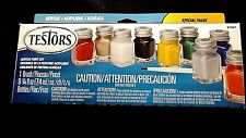 Model Kit Premium Acrylic Detail Paint Kit 1- Brush 9- Colors Testors