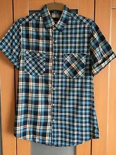 Mens TOPMAN Short Sleeved Checked Shirt Size S