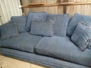 loveseat & sofa. Great condition. No smoke or pets ever around it. Blue