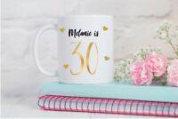 Personalised Mug ,30th Birthday Gift, Friend, Sister, Auntie Mum, Daughter, Gold