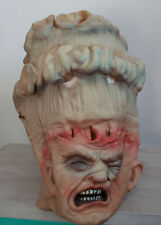 New Shrunken Head Cannibal Rubber Mask Halloween Witch Doctor Trim to Fit s3