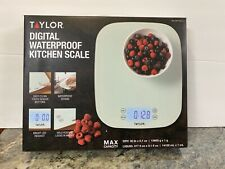 NEW Taylor Digital Waterproof Kitchen Scale Weighs up to 30 LB Easy Clean (a