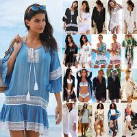 Summer Wear Swimwear Women Beach Dress Bikini Cover Up Kaftan Sarong Kimono Tops