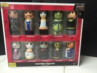 2016 SDCC EXCLUSIVE Suicide Squad Pin Mate Wooden Figure Set of 10 LE 1500 Made