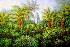 """Claude Monet  Repro  Oil Painting - Garden Path at Giverny  Size:36""""x24"""""""