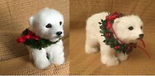 New ListingPair of Byers Choice Polar Bear Cubs, One Seated and One Standing, 2009 and 2012