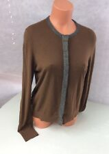 ANN TAYLOR Glitter Cardigan Sweater Shimmer Women's Large