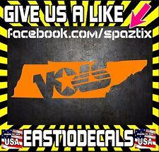 Tennessee Vols Power T State 7'' vinyl car sticker decal UT VOL FOOTBALL