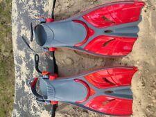 Kinder Flossen Gr. 32-37 verstellbar Schwimmflossen Taucherflossen rot