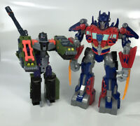 Transformers Optimus Prime 2009 W/ Sound Power Bots & Megatron Tank 2 Figures