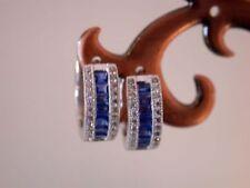 Lab-Created Huggie Sterling Silver Fine Earrings