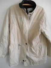 Ladies Vintage Quality LONDON FOG Parka Car Coat Winter Warm Lining Off White M
