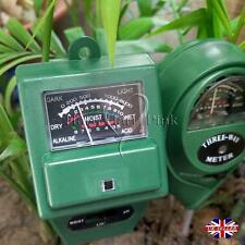 3 in 1 PH Tester Soil Water Moisture Light Test Meter for Garden Plant Flower DG