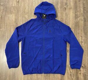 Nike Jordan Wings Windbreaker Jacket Men's Large L Royal Blue 894228-455 NWT