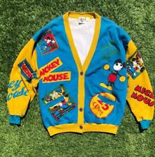 Rare VTG 90s Mickey & Co. All over Print Disney Cardigan Sweater Shirt XL/2XL