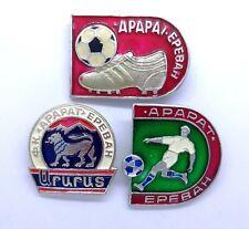Ararat Yerevan Football Club,Vintage Soviet Pins,Set of 3 Armenian football pins
