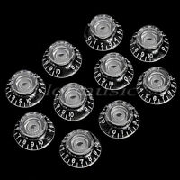 10 Transparent Knob for Electric Guitar Push ON Top Hat Speed Control Knobs