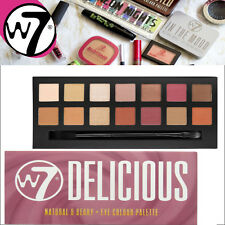 New! W7  Delicious Eye Shadow Palette Berry & Naturals 14 Shades