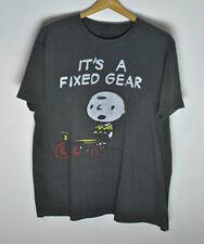 Mustache Brigade x Peanuts It's A Fixed Gear T-Shirt Gray size XL