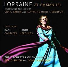 LORRAINE/SMITH,CRAIG/+ HUNT LIEBERSON - LORRAINE AT EMMANUEL-ARIAS  CD NEW+ BACH