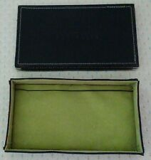 "Perry Ellis Brown Leather Box w/a Green Felt Interior-Approx 7 1/4""x4 1/4""x1""."