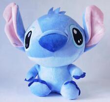 "Disney LILO STITCH Sitting Exclusive Blue Soft Plush Stuffed 8"" Toy Doll Gift UU"
