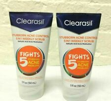 2 Pcs ! Clearasil Stubborn Acne Control 5 In 1 Weekly Face Scrub 5 Oz 12 /2019
