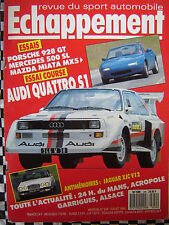 revue ECHAPPEMENT 1989 AUDI QUATTRO S1 /MAZDA MX5 /PORSCHE 928 GT / 24 H DU MANS