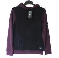 Marc Ecko Cut & Sew Mens Size Large Ribbed Eggplant Hoodie Sweatshirt New