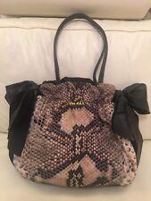 Authentic Prada Multicolour Python Print Black Shoulder Bag