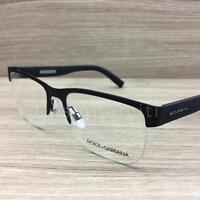 Dolce & Gabbana DG 1272 Eyeglasses Rubber Skin Black 1260 Authentic 53mm