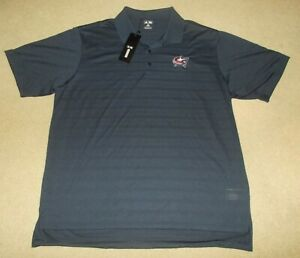 Columbus Blue Jackets NHL Adidas Men's 2XL Navy Blue Golf Polo Shirt