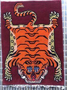 Tibetan small tiger rug
