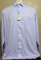 NEW Peter Millar Crown Men's Size 18 Long Lilac Gingham Check Performance Shirt