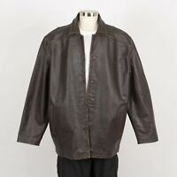 Mens CHEROKEE Leather Jacket Size XL Brown