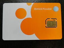 New At&T Micro/3Ff Sim Card Prepaid,Postpaid,Replacem ent, New/Existing