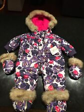 ❤$98 Juicy Couture Pram Baby infant girls 1 piece suit overall 0-3❤