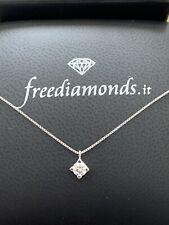 Choker Necklace Light Spot White Gold 18kt Diamond 0,22 CT - Communion Gift
