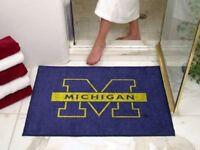 NCAA Michigan Wolverines 34 x 45 All Star Fanmats area rug carpet USA QUICK SHIP