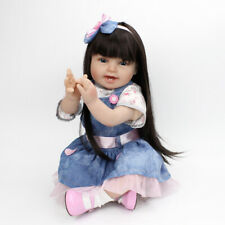 "Reborn Dolls 23"" Toddler Long Hair Doll Child's Toy Xmas Gifts Real Life Vinyl"