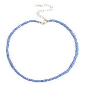 Bohemian Handmade Rainbow Beads Choker Necklace Candy Color Bead Women Jewelr_CI