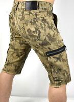 True Religion Men's Mojave Jacquard Camo Touring Moto Cargo Shorts - 100382