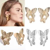 Fashion Metal Big Butterfly Earrings Ear Stud Dangle Hoop Women Reteo Jewelry