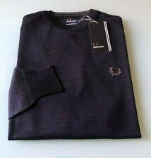 FRED PERRY maglione uomo - TG.  S-M-L-XL-XXL colore Blu Navy