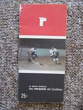 1969/70  Quebec Remparts yearbook.  Guy Lafleur rookie! SIGNED