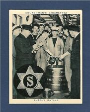 NAVY SUPPLY RATING ROYAL NAVY BADGE Tot Rum Ration Grog 1937 original PHOTO card