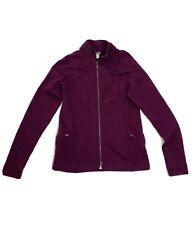 IBEX Medium Merino Wool Full Zip Jacket Purple Mid-weight Women's
